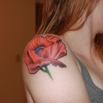 Poppy Tattoo 6 150x150 - 100's of Poppy Tattoo Design Ideas Pictures Gallery
