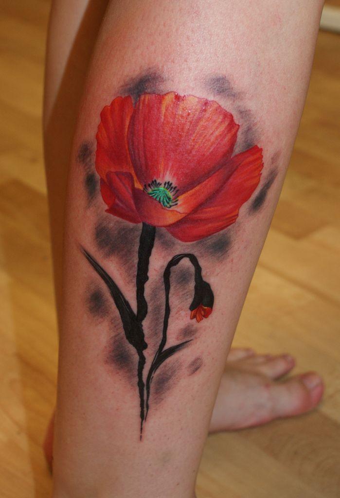 Poppy Flower Tattoo: 100's Of Poppy Tattoo Design Ideas Pictures Gallery