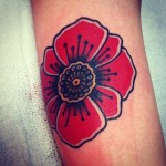 Poppy Tattoo 9 150x150 - 100's of Poppy Tattoo Design Ideas Pictures Gallery