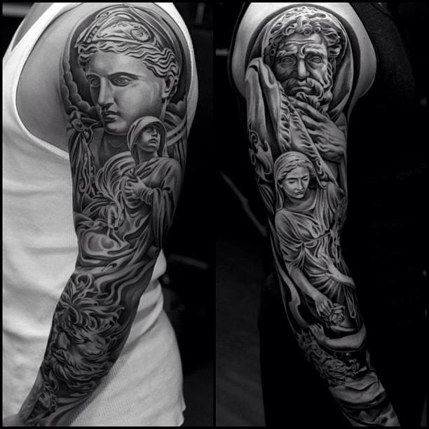 100's of Roman Tattoo Design Ideas Pictures Gallery