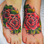 Rose Tattoo 11 150x150 - 100's of Rose Tattoo Design Ideas Pictures Gallery
