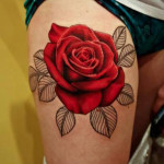 Rose Tattoo 5 150x150 - 100's of Rose Tattoo Design Ideas Pictures Gallery
