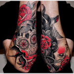 Rose Tattoo 8 150x150 - 100's of Rose Tattoo Design Ideas Pictures Gallery