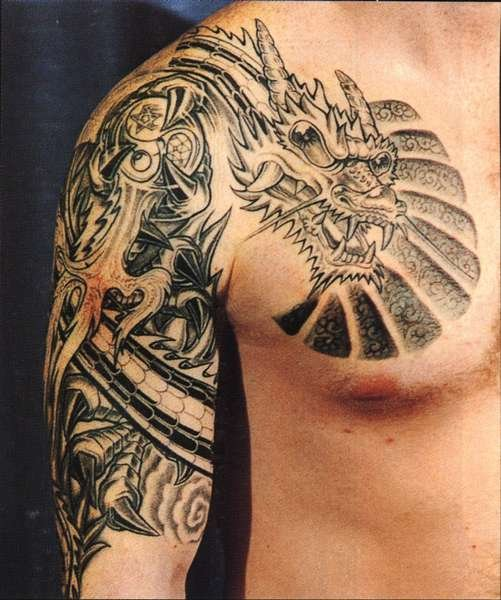 100's of Shoulder Dragon Tattoo Design Ideas Pictures Gallery