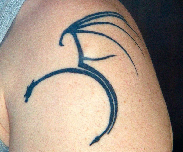 100's of Simple Dragon Tattoo Design Ideas Pictures Gallery