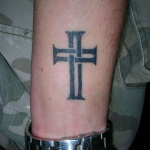 Small Cross 4 150x150 - 100's of Small Cross Tattoo Design Ideas Pictures Gallery