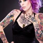 Tattoos on Girls 2 150x150 - 100's of Tattoos on Girls Design Ideas Pictures Gallery
