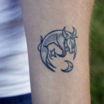 Taurus Tattoo6 150x150 - 100's of  Taurus Tatto Design Ideas Pictures Gallery