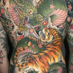 100's of Tiger and Dragon Tattoo Design Ideas Pictures Gallery
