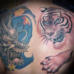 Tiger and Dragon 6 150x150 - 100's of Tiger and Dragon Tattoo Design Ideas Pictures Gallery