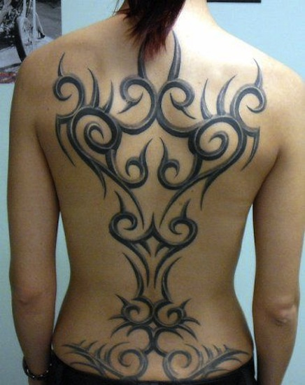 100's of Tribal Back Tattoo Design Ideas Pictures Gallery