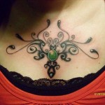 Tribal Chest Tattoo1 150x150 - 100's of Chest Tattoo Design Ideas Picture Gallery