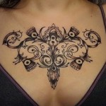 Tribal Chest Tattoo11 150x150 - 100's of Chest Tattoo Design Ideas Picture Gallery