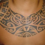 Tribal Chest Tattoo12 150x150 - 100's of Chest Tattoo Design Ideas Picture Gallery