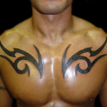 Tribal Chest Tattoo4 150x150 - 100's of Chest Tattoo Design Ideas Picture Gallery