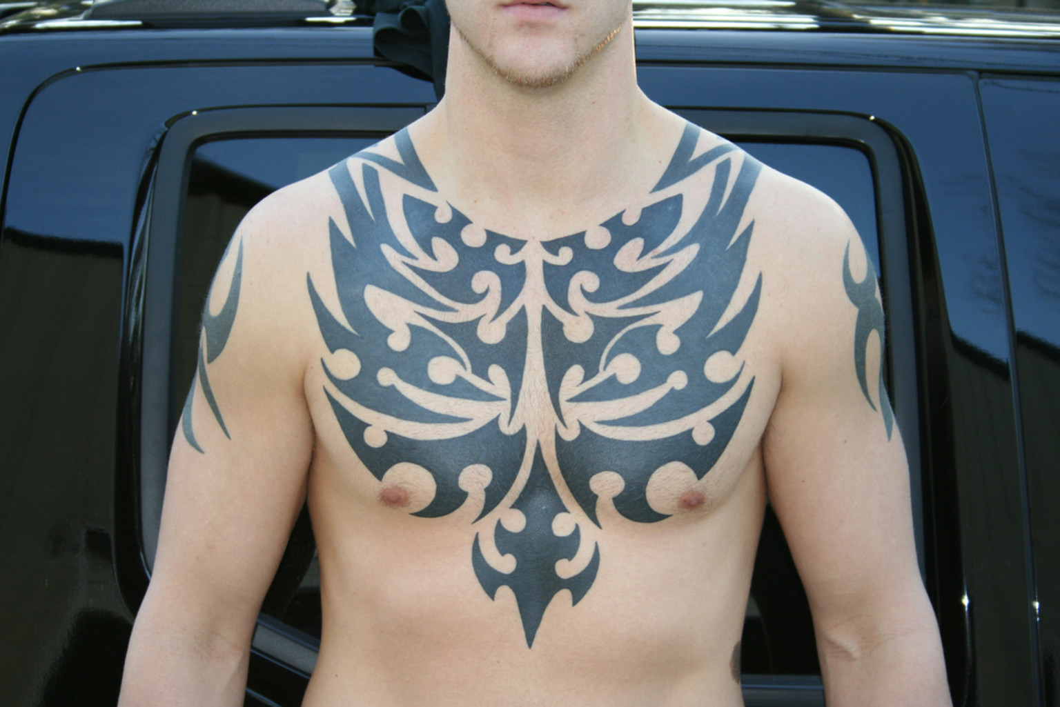 100's of Chest Tattoo Design Ideas Picture Gallery