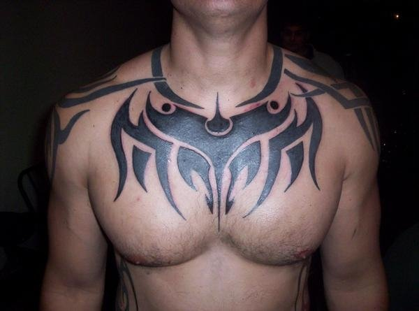 100's of Tribal Chest Tattoo Design Ideas Pictures Gallery