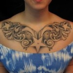 Tribal Chest Tattoo9 150x150 - 100's of Chest Tattoo Design Ideas Picture Gallery