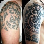 Tribal Cover Up Tattoo2 150x150 - 100's of Tribal Cover Up Tattoo Design Ideas Pictures Gallery