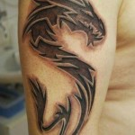 Tribal Dragon Tattoo10 150x150 - 100's of Tribal Dragon Tattoo Design Ideas Pictures Gallery