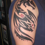 Tribal Dragon Tattoo2 150x150 - 100's of Tribal Dragon Tattoo Design Ideas Pictures Gallery