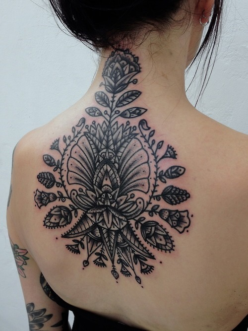 Tribal Flower Tattoo7 - 100's of Tribal Flower Tattoo Design Ideas Pictures Gallery