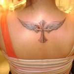 Women Cross Tattoo 7 150x150 - 100's of Women Cross Tattoo Design Ideas Pictures Gallery
