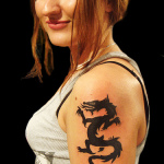 Women Dragon 11 150x150 - 100's of Women Dragon Tattoo Design Ideas Pictures Gallery