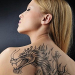 Women Dragon 12 150x150 - 100's of Women Dragon Tattoo Design Ideas Pictures Gallery