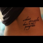 Word Tattoo1 150x150 - 100's of Word Tattoo Design Ideas Pictures Gallery
