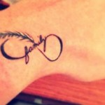 26 Cute small infinity tattoo for girls 420x215 150x150 - 100's of Small Tattoo Design Ideas Picture Gallery