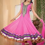 8112 pink net anarkali salwar kameez with gold zardosi work 150x150 - Anarkali Salwar kameez Design Ideas Pictures Gallery