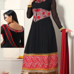 8627 classic black faux georgette anarkali salwar kameez 150x150 - Anarkali Salwar kameez Design Ideas Pictures Gallery