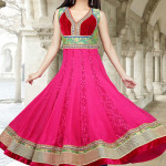 8815 designer pink and red faux georgette anarkali salwar kameez 150x150 - Anarkali Salwar kameez Design Ideas Pictures Gallery