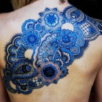 Amazing Blue Tattoo Design for Women 150x150 - Blue tattoos Tattoos Design Ideas Pictures Gallery