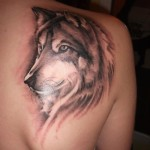 Awesome Wolf Tattoo 150x150 - Wolf Tattoos Design Ideas Pictures Gallery