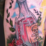 Bottle Tattoos 74 150x150 - Bottle Tattoos Design Ideas Pictures Gallery