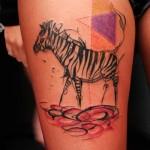 Cute Zebra Tattoo 150x150 - Zebra Tattoos Design Ideas Pictures Gallery