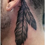 Feather tattoo 10 150x150 - Feather Tattoos Design Ideas Pictures Gallery