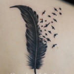 Feather tattoo 15 150x150 - Feather Tattoos Design Ideas Pictures Gallery