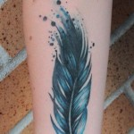 Feather tattoo 2 150x150 - Feather Tattoos Design Ideas Pictures Gallery