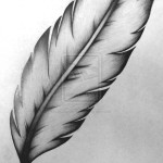 Feather tattoo 7 150x150 - Feather Tattoos Design Ideas Pictures Gallery