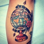 Globe tattoo 3 150x150 - Globe Tattoos Design Ideas Pictures Gallery