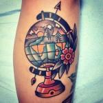 Globe tattoo 3 150x150 - Globe Tattoos Design Ideas Pictures Gallery