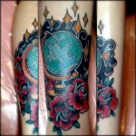 Globe tattoo 4 150x150 - Globe Tattoos Design Ideas Pictures Gallery