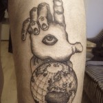 Globe tattoo 8 150x150 - Globe Tattoos Design Ideas Pictures Gallery