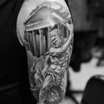Greek Tattoo 10 150x150 - Greek Tattoos Design Ideas Pictures Gallery
