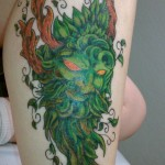 Green Tattoos 3 150x150 - Green Tattoos Design Ideas Pictures Gallery