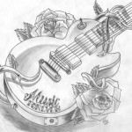 Guitar Tattoos 13 150x150 - Guitar Tattoos Design Ideas Pictures Gallery