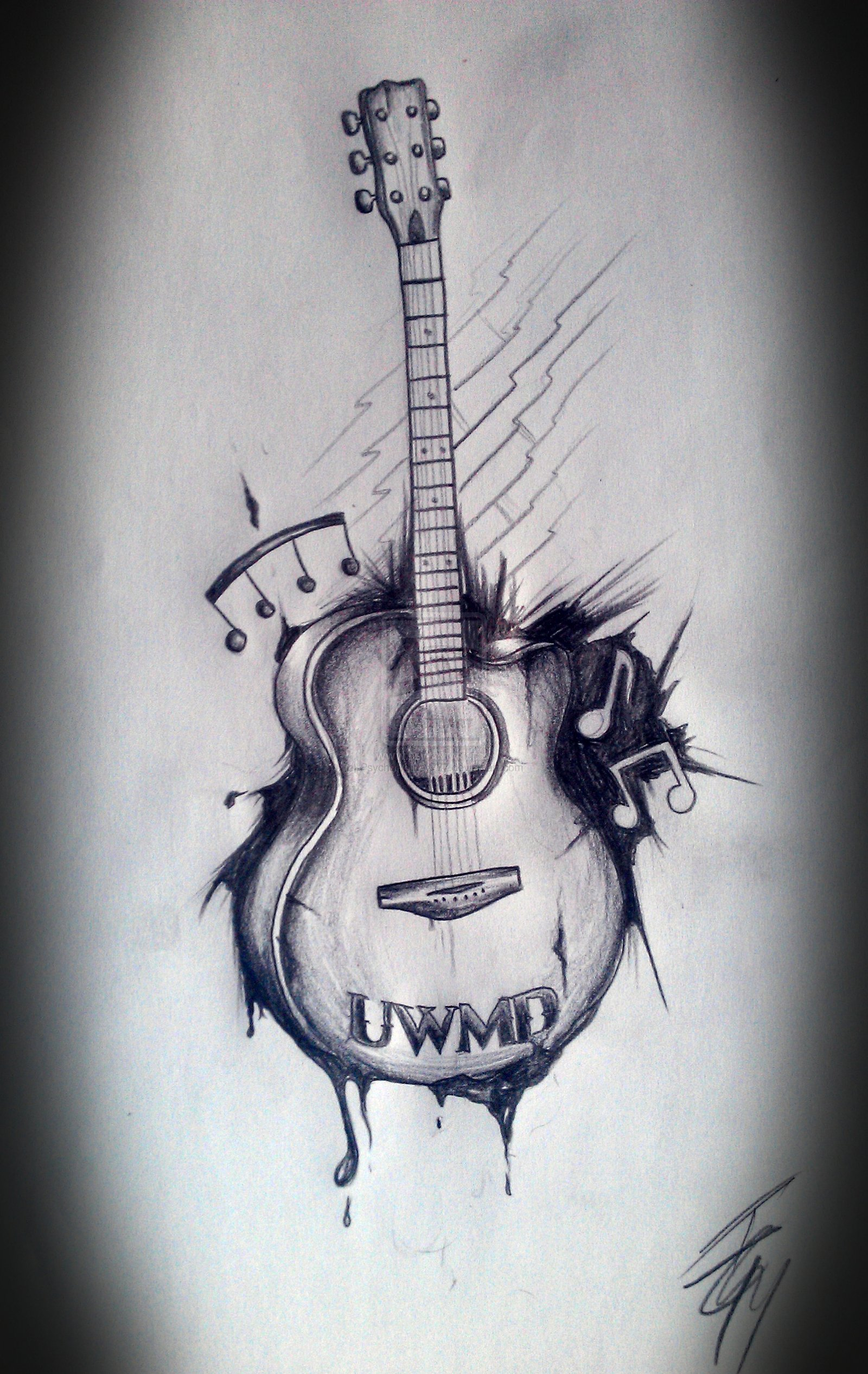 guitar tattoos design ideas pictures gallery
